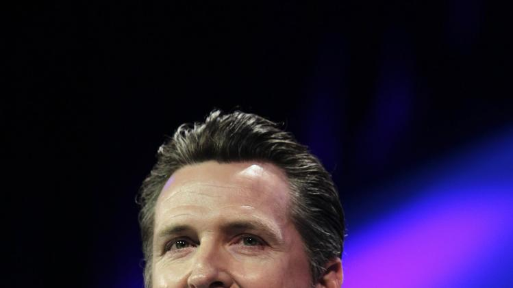 California Lt. Governor Gavin Newsom at the 2014 California Democrats State Convention in Los Angeles