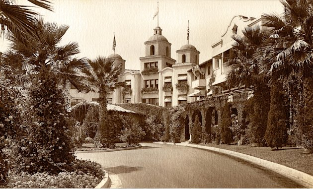 In this undated image released by Beverly Hills Collection, a historic view of The Beverly Hills Hotel is seen. The Beverly Hills Hotel is celebrating its 100th Anniversary in May. (AP Photo/Beverly H