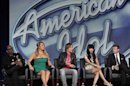 "Jackson, Carey, Urban, Minaj and Seacrest attend a Fox panel for the television series ""American Idol"" at the 2013 Winter Press Tour for the Television Critics Association in Pasadena"