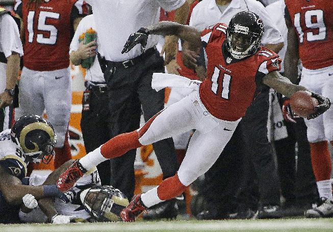 WRs Jones, White active in Falcons-Dolphins game
