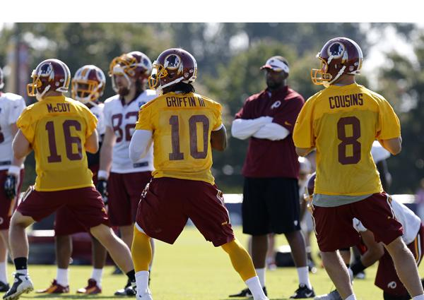 Why didn't the Redskins have a quarterback competition?