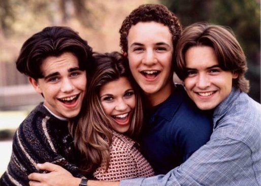 """Boy Meets World"" stars Rider Strong, Danielle Fishel, Ben Savage, and Will Friedle (from left)"
