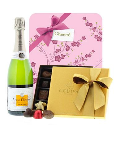 Veuve Clicquot and Godiva Gift Set