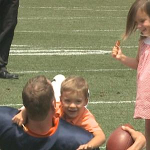 Is Denver Broncos Peyton Manning the best dad at training camp?