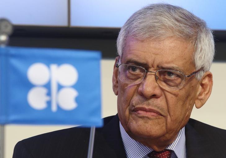 OPEC Secretary-General al-Badri addresses the media during the presentation of OPEC's World Oil Outlook in Vienna