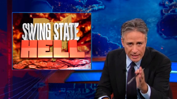 Jon Stewart Takes a Look at Swing State Hell