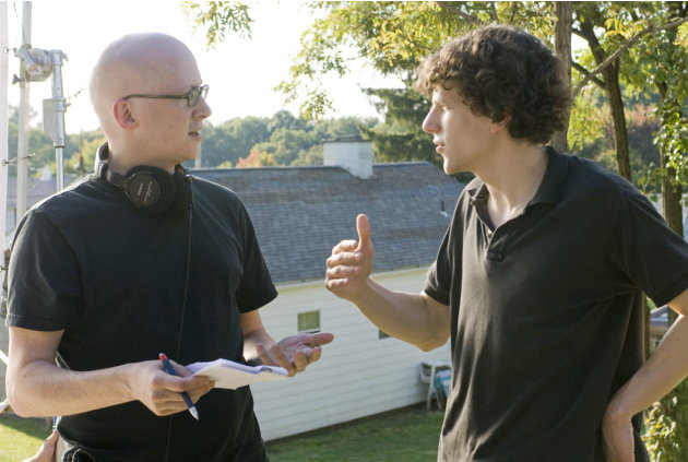 Director Greg Mottola Jesse Eisenberg Adventureland Production Stills Miramax 2009