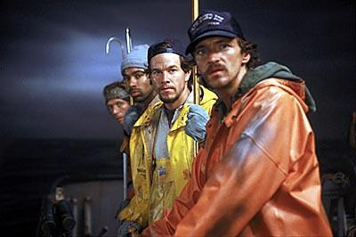 William Fichtner , Allen Payne , Mark Wahlberg and John Hawkes in Warner Brothers' The Perfect Storm