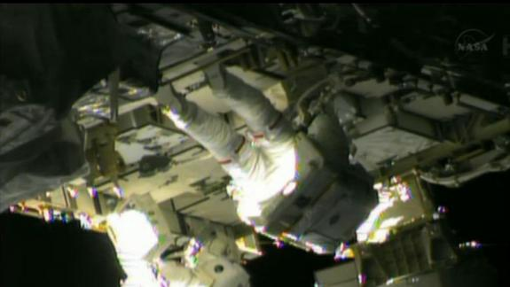 Spacewalking Astronauts Hopeful New Pump Fixes Space Station Leak