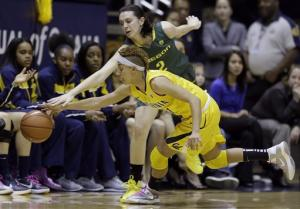 Cal women beat Ducks for school-record 12th in row