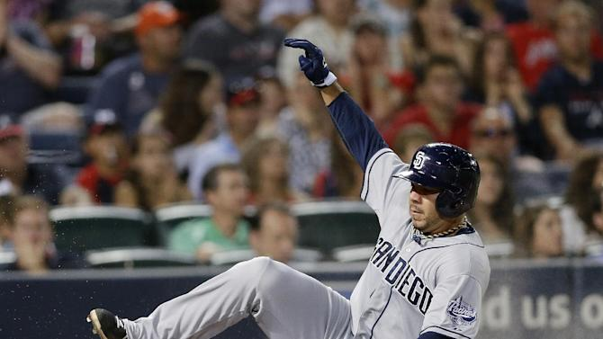 Padres beat Braves 4-3 with 2 runs in 8th