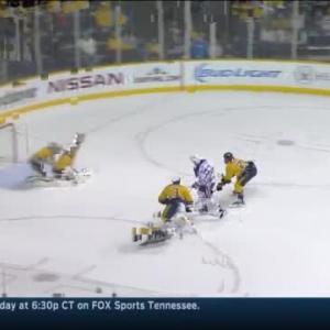 Pekka Rinne Save on Ryan Nugent-Hopkins (07:32/1st)