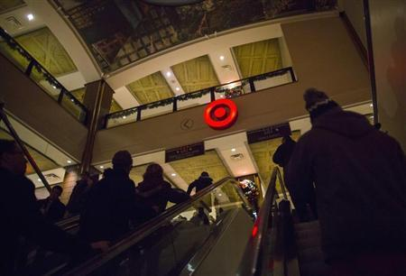 Shoppers are seen at a Target store during Black Friday sales in the Brooklyn borough of New York