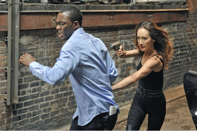 BJ Britt as Justin Markinson and Maggie Q as Nikita in &quot;Nikita.&quot; 