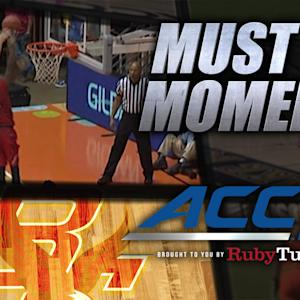 Boston College's Eddie Odio Monster Block vs Dayton | ACC Must See Moment