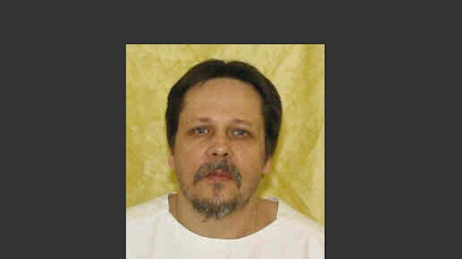 FILE-In this undated file photo provided by the Ohio Department of Rehabilitation and Correction shows Dennis McGuire. A condemned Ohio killer facing a never-tried lethal injection method has arrived at the state death house a day ahead of his scheduled execution. The Department of Rehabilitation and Correction plans to use a combination of a sedative and a painkiller to put McGuire to death for the 1989 rape and fatal stabbing of Joy Stewart in Preble County in western Ohio. (AP Photo/Ohio Department of Rehabilitation and Correction, File)