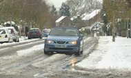 Snow And Heavy Rain Sweep Across UK
