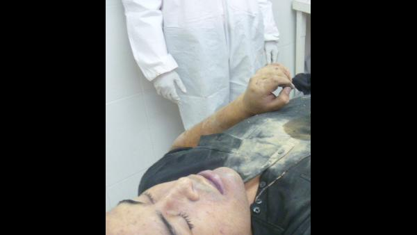 This photo released by Mexico's Navy on Tuesday, Oct. 9, 2012 allegedly shows the body of Zeta drug cartel leader and founder Heriberto Lazcano while in the possession of Mexico's Medical Forensic Service (SEMEFO) in Sabinas, Mexico. Mexico's Navy says fingerprints confirm that cartel leader Lazcano, an army special forces deserter whose brutal paramilitary tactics helped define the devastating six-year war among Mexico's drug gangs and authorities, was killed Sunday in a firefight with marines in the northern state of Coahuila on the border with the Texas. (AP Photo/Mexico Navy)