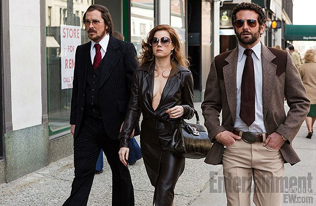 Amy Adams with Bradley Cooper and Christian Bale in 'American Hustle'