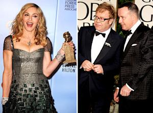 "Elton John's Husband David Furnish Slam Madonna's ""Embarrassing"" Globes Speech"