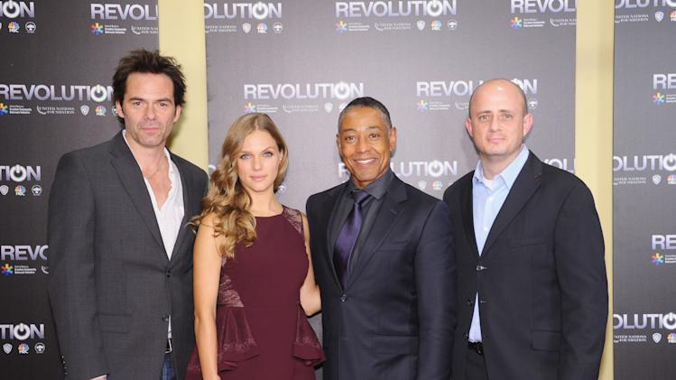 Billy Burke, Tracy Spiridakos, Giancarlo Esposito, and Eric Kripke