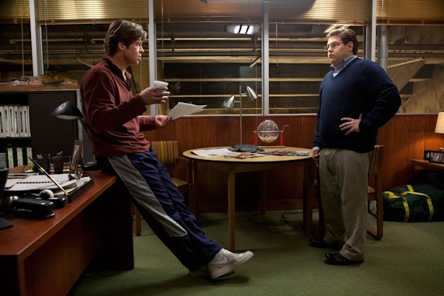 Moneyball 2011 Columbia Pictures Brad Pitt Jonah Hill