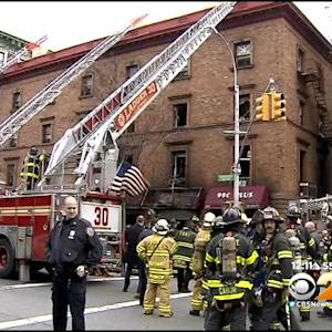 Large Fire Tears Through Building In Harlem