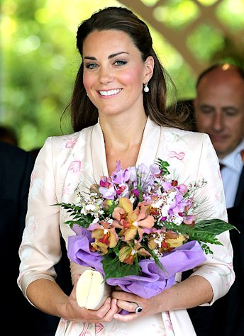 Kate Middleton, Prince William Attend Orchid Naming Ceremony in Singapore