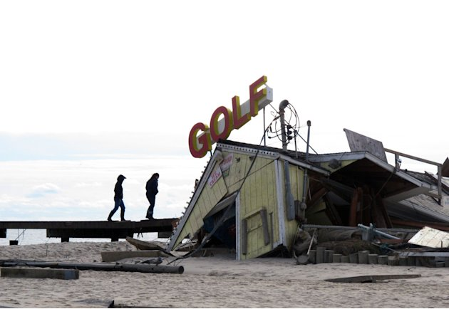 A mini-golf course on the boardwalk in  Point Pleasant Beach N.J., shown here on Nov. 1, 2012, was destroyed by Hurricane Sandy. The storm wrecked boardwalks and amusements up and down the 127-mile Je