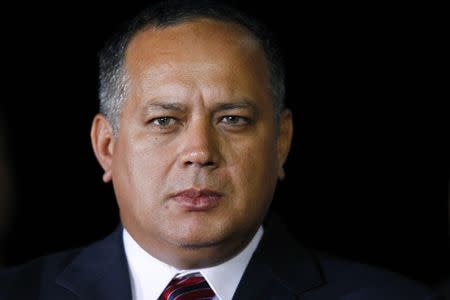 File photo of Venezuelan National Assembly President Diosdado Cabello seen at Simon Bolivar airport in Caracas