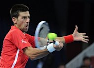 Novak Djokovic of Serbia, pictured in action at the China Open in Beijing, is one of the top draws at the Shanghai Masters along with Roger Federer and Andy Murray
