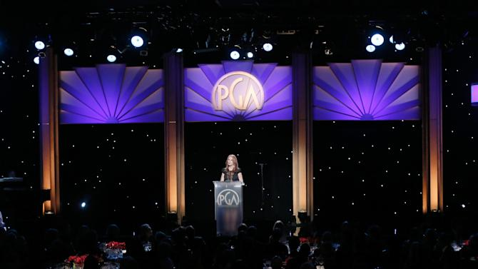 Marlo Thomas onstage at the 24th Annual Producers Guild (PGA) Awards at the Beverly Hilton Hotel on Saturday Jan. 26, 2013, in Beverly Hills, Calif. (Photo by Todd Williamson/Invision for The Producers Guild/AP Images)