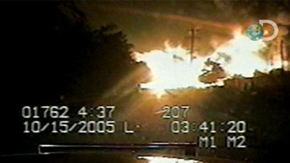 Explosion Recorded on Police Dash Cam