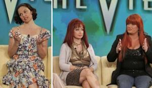 "Ashley Judd on ""The View"" on April 6, 2011 (left); Naomi Judd and Wynonna Judd on ""The View"" on April 7, 2011 (right) -- ABC"