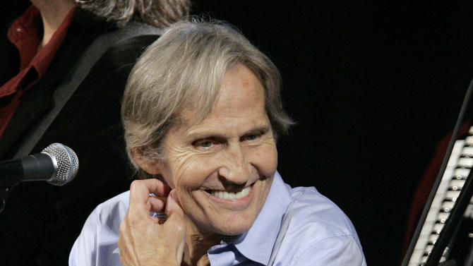 """FILE - In this Dec. 3, 2007 file photo, musician Levon Helm appears on the new """"Imus in the Morning"""" program at New York. Helm, who was in the final stages of his battle with cancer, died Thursday, April 19, 2012 in New York.  He was 71.  He was a key member of The Band and lent his distinctive Southern voice to classics like """"The Weight"""" and """"The Night They Drove Old Dixie Down."""" (AP Photo/Richard Drew, file)"""