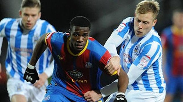 Wilfried Zaha for Crystal Palace against Huddersfield (PA Sport)