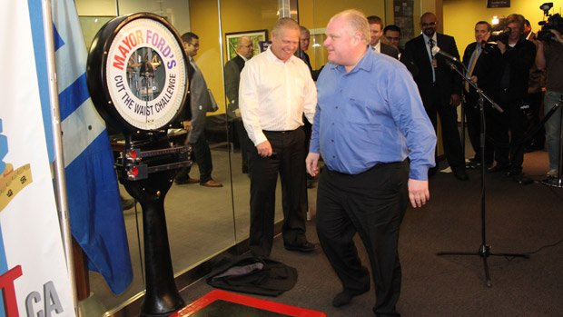 Toronto Mayor Rob Ford said Sunday that he is no longer dieting, despite nearing the end of the weight-loss challenge he launched with his brother, Coun. Doug Ford, earlier this year.