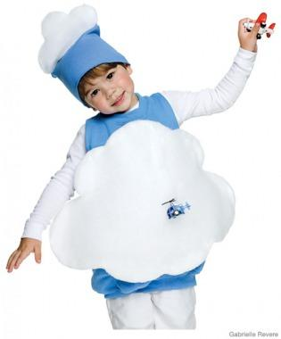Fluffly Blue Cloud Costume
