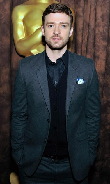 Justin Timberlake attends the centennial tribute to Gene Kelly at AMPAS Samuel Goldwyn Theater in Beverly Hills, Calif. on May 17, 2012 -- Getty Images