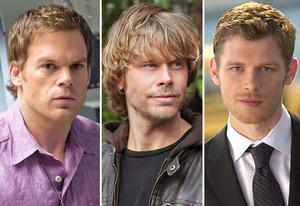 Michael C. Hall, Eric Christian Olsen, Joseph Morgan | Photo Credits: Randy Tepper/Showtime; Monty Brinton/CBS; Curtis Baker/The CW