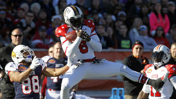Carr, Fales help South to 20-10 Senior Bowl win