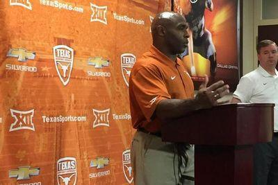 Texas players can't stop making fun of tiny little Charlie Strong
