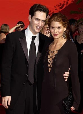 Debra Messing and husband Emmy Awards - 9/22/2002