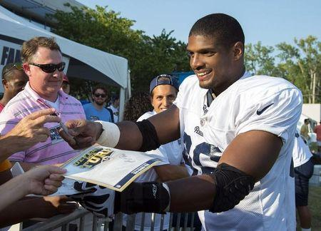 NFL: St. Louis Rams-Michael Sam Press Conference