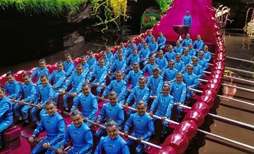 The Oompa-Loompas ( Deep Roy ) in Warner Bros. Pictures' Charlie and the Chocolate Factory