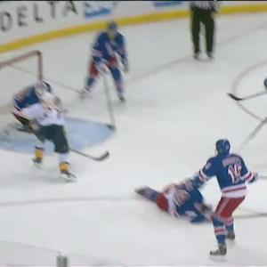 Nick Spaling beats Henrik Lundqvist top-shelf
