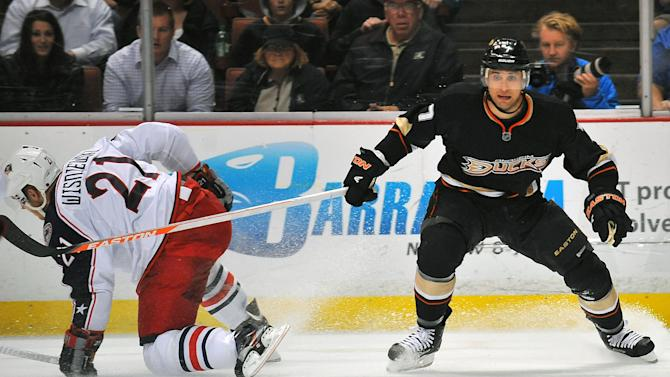 NHL: Columbus Blue Jackets at Anaheim Ducks