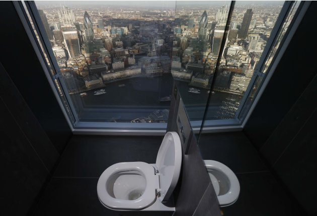 The Shard toilet