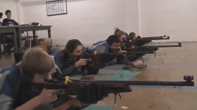The Washington (Pa.) Trinity High rifle team trains for WPIAL competition in 2012 -- YouTube