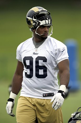 Michael Sam is trying to make the roster with the Rams as a seventh-round draft pick. (AP)